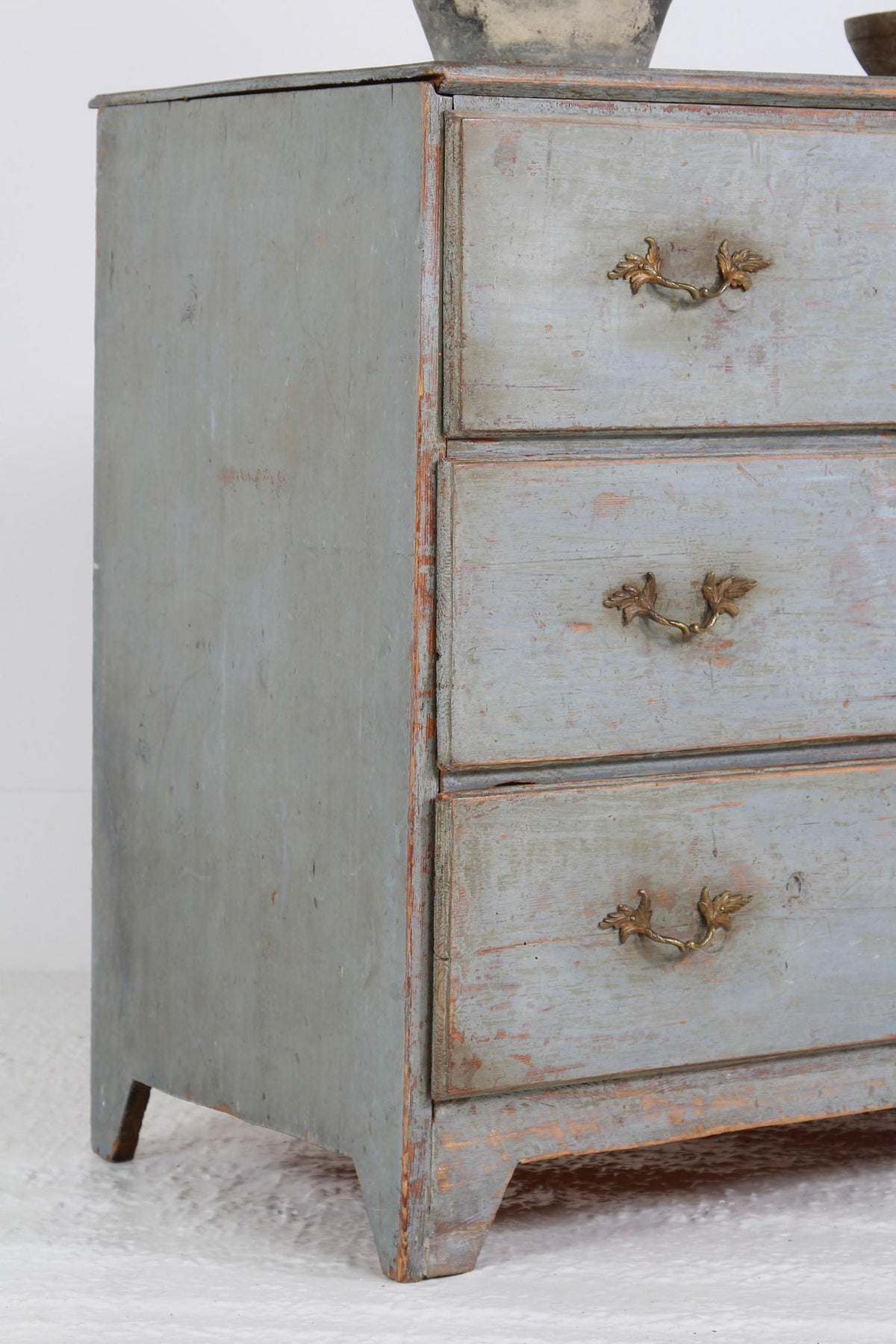 Scandinavian Provincial  19thC  Blue-Painted Commode