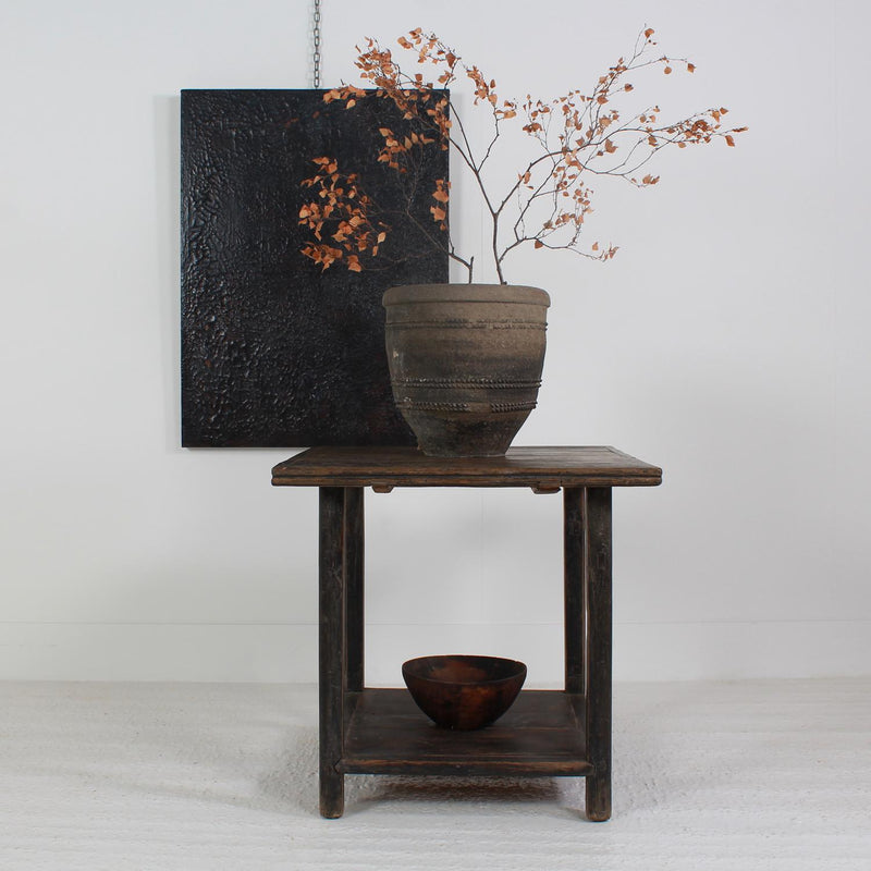 WABI SABI 19THC FREESTANDING DISPLAY/CENTRE TABLE