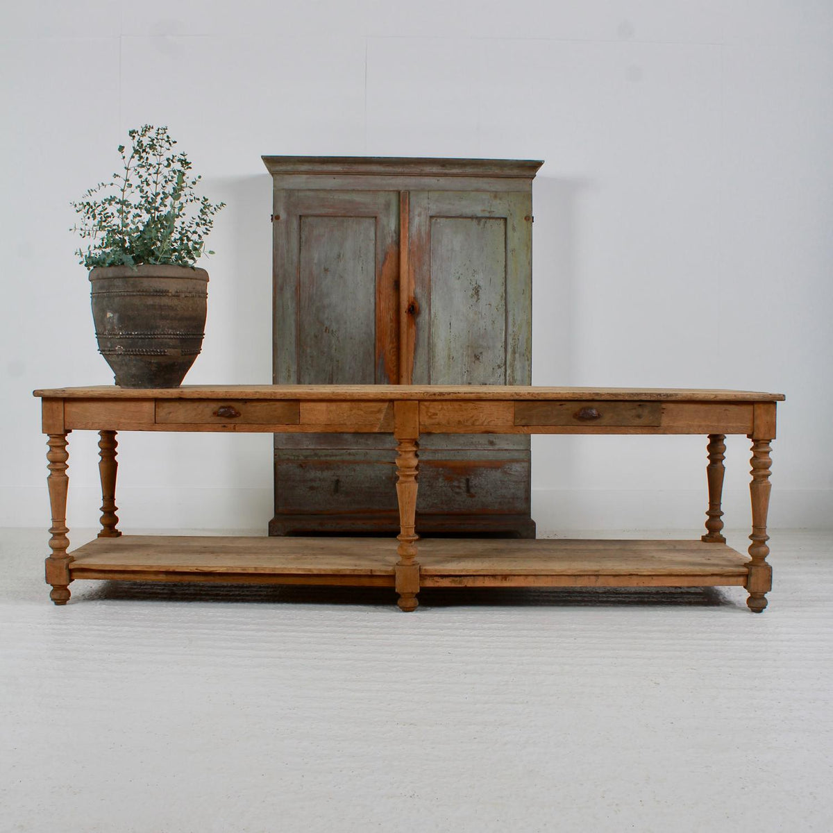 Magnificent FRENCH 19TH CENTURY OAK DRAPER/CONSOLE TABLE