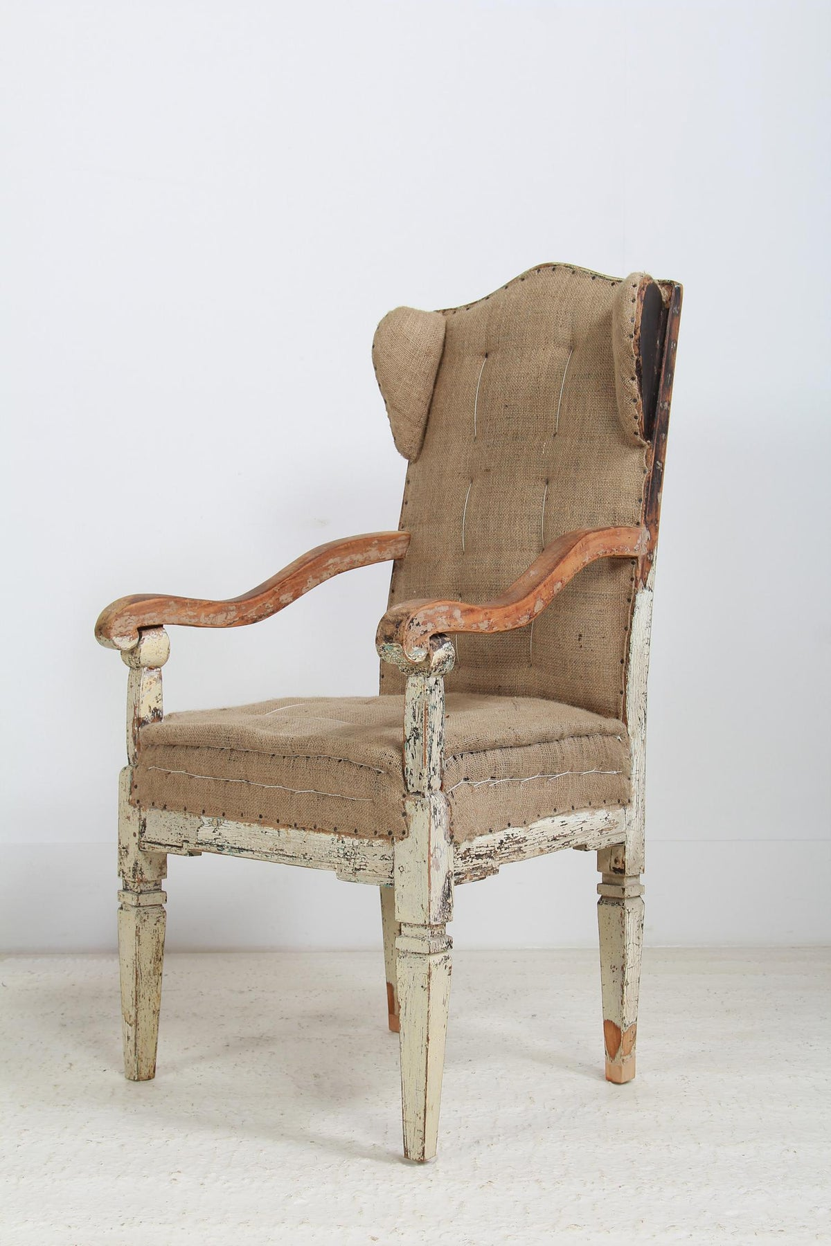 Late 18thC French Period Deconstructed Winged Armchair