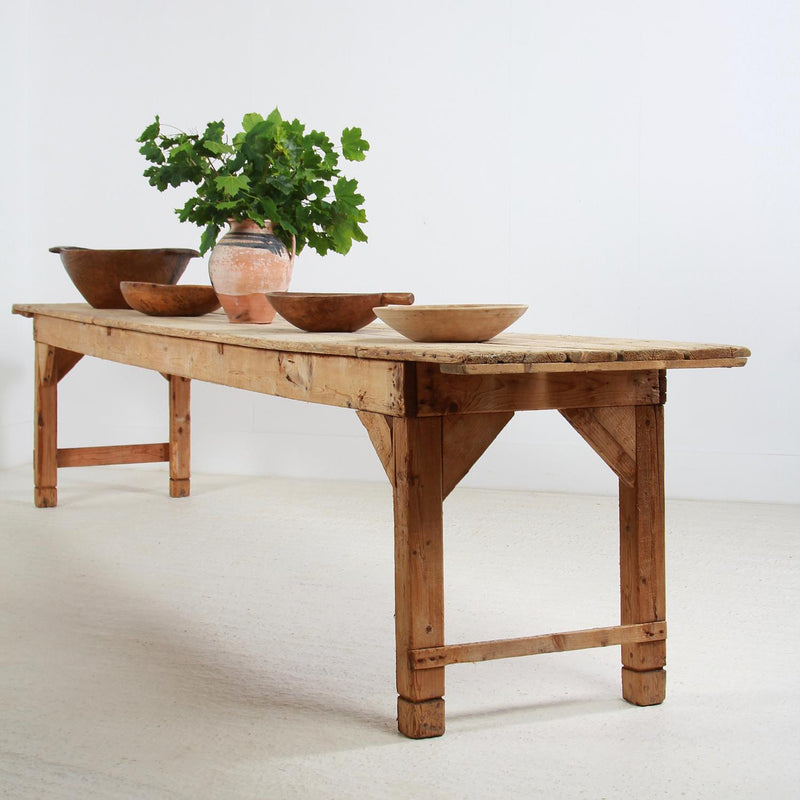 Grand Scale 19th Century Harvest Table from the South of France
