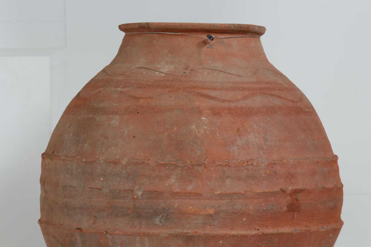 BEAUTIFUL ANTIQUE GREEK 19THC MEDITERRANEAN OLIVE JARS