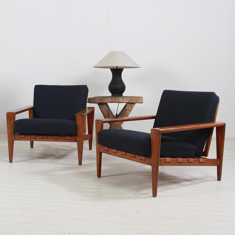 Pair of Scandinavian Midcentury Lounge Chairs