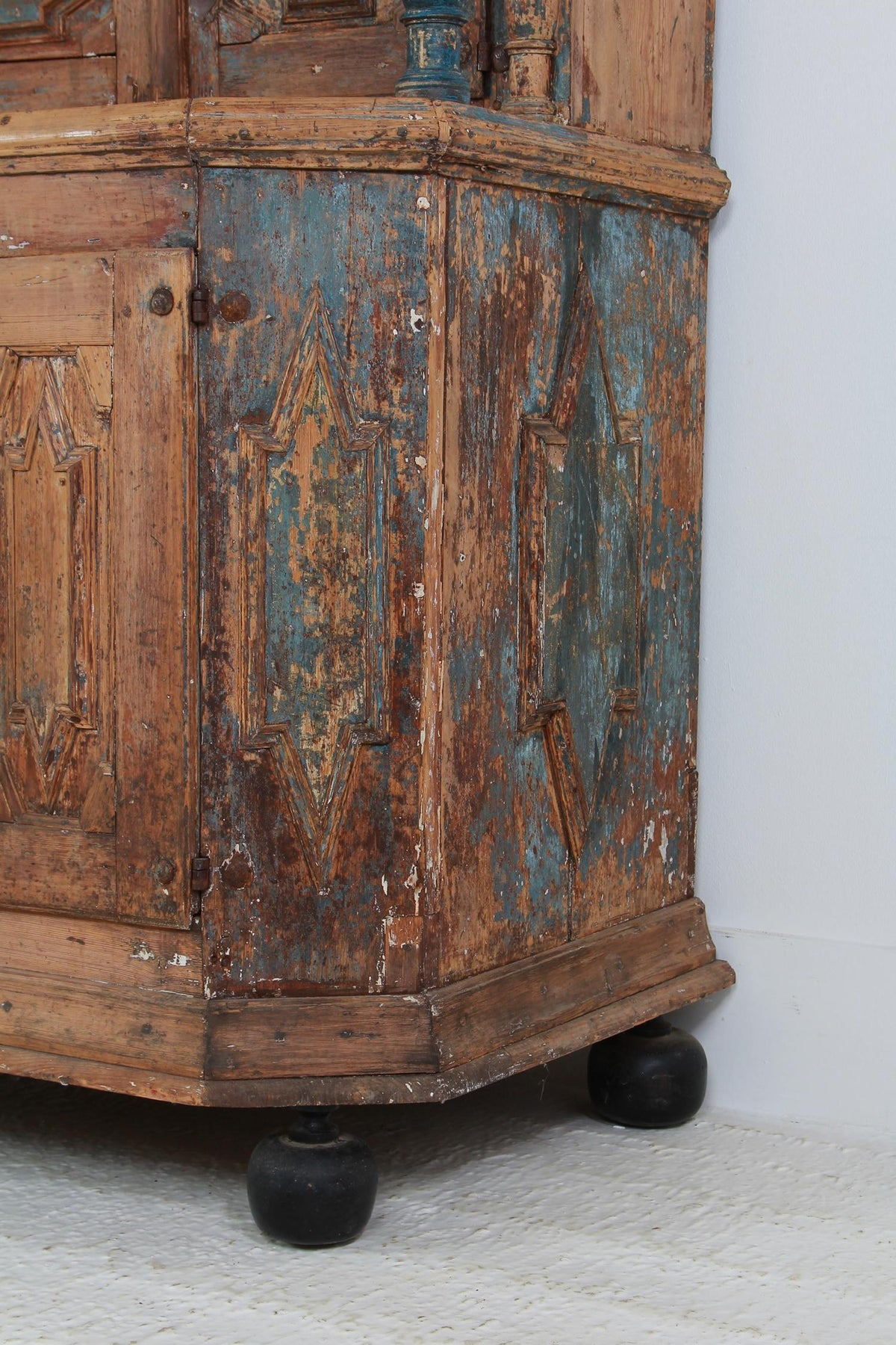Rare 18th Century Swedish Period  Baroque Cabinet