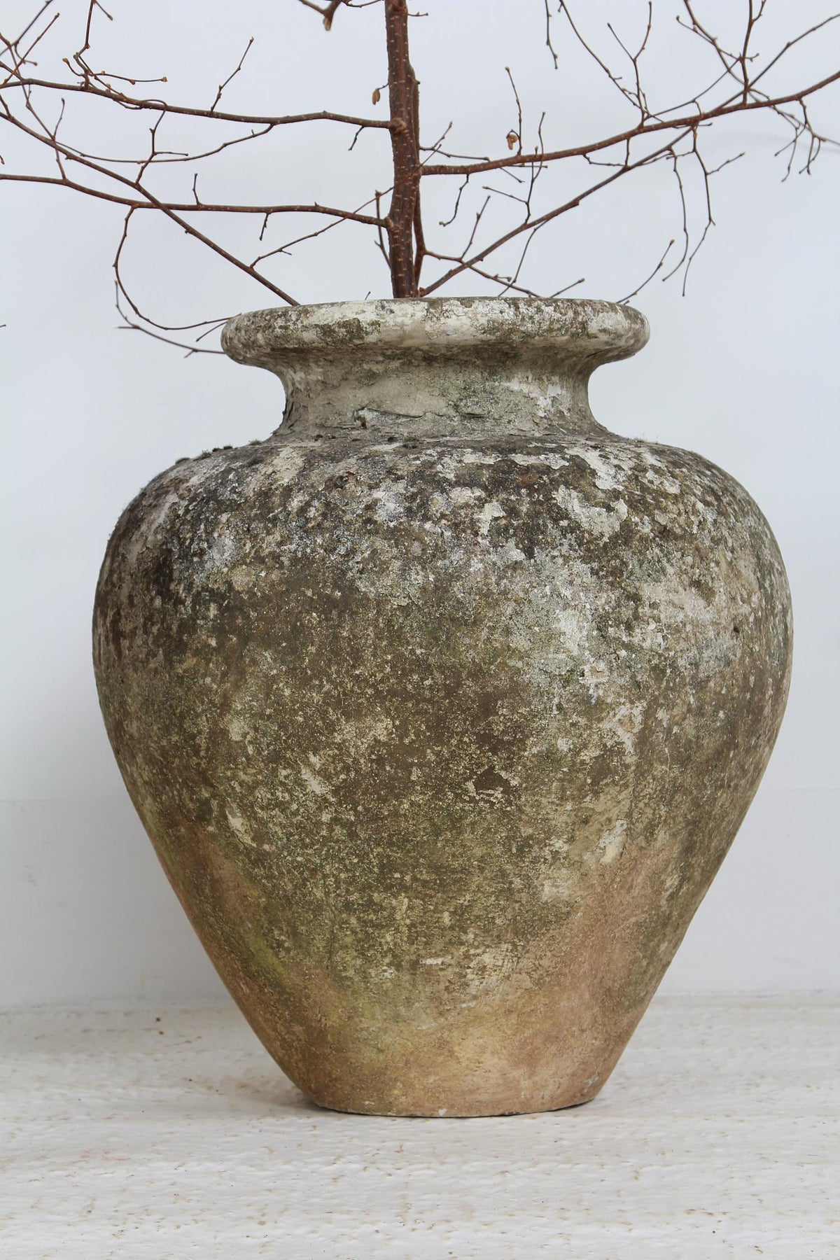 Impressive  Weathered  XL French Concrete Urn