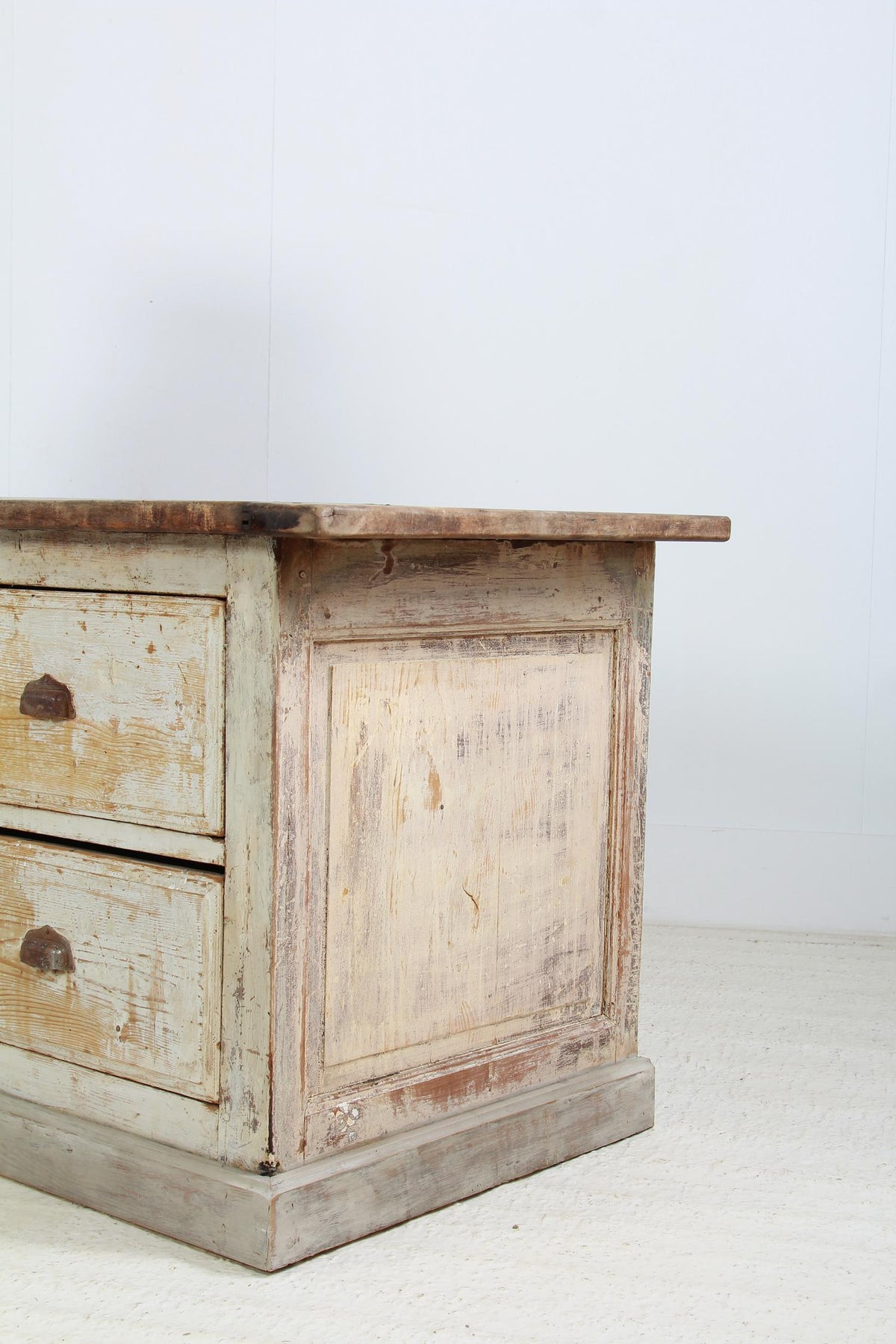 Original French Early 20thC Apothecary Bank of Drawers