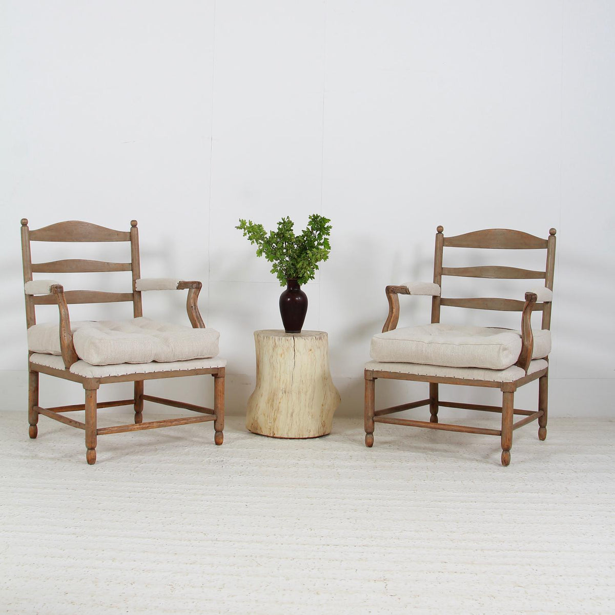 Magnificent Pair 18th Century Gustavian Gripsholm Armchairs