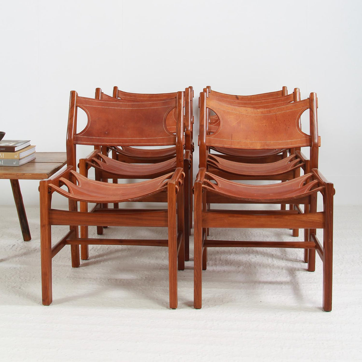 PAIR OF MID CENTURY Designer LEATHER LOUNGE CHAIRS
