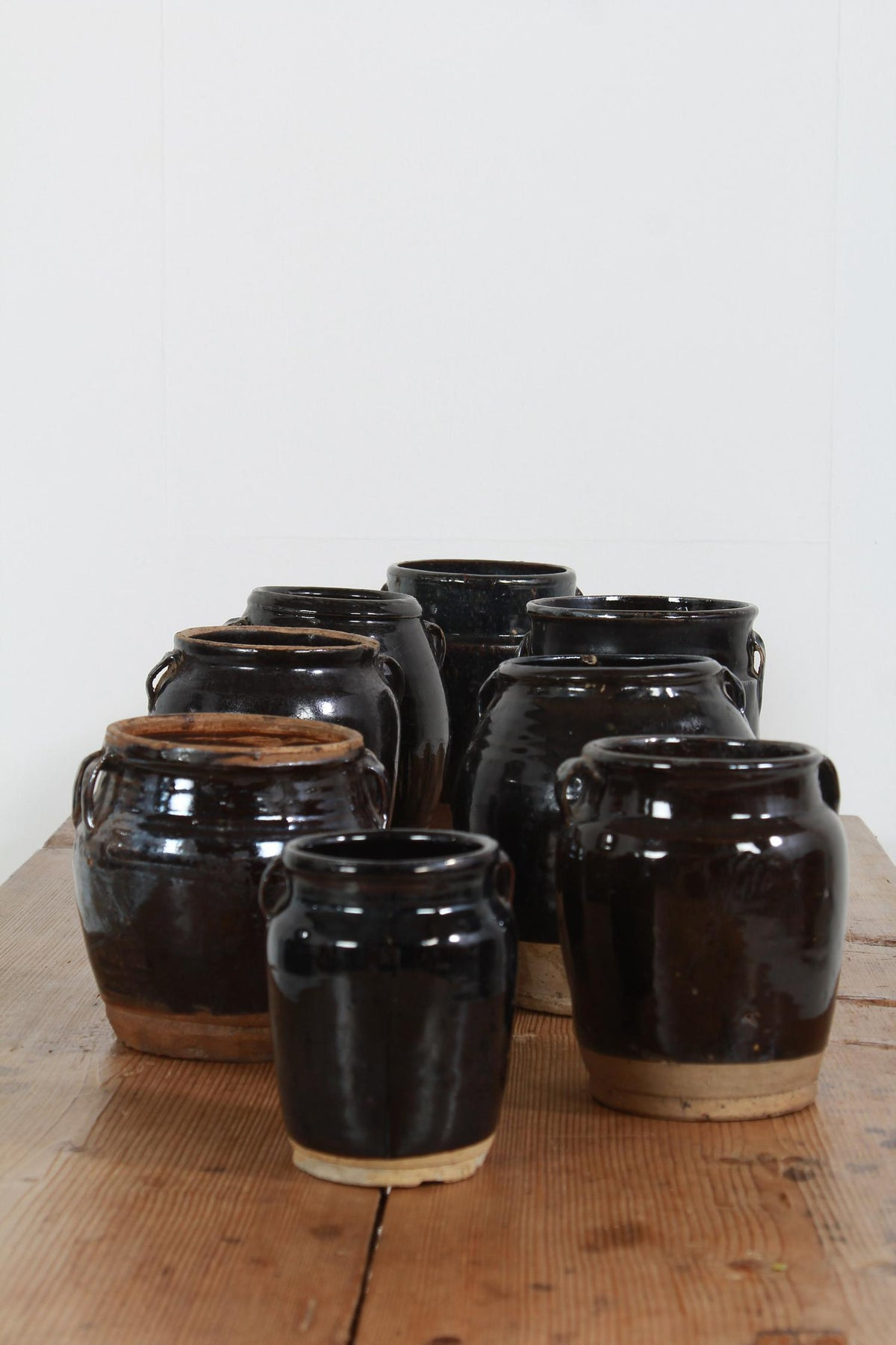 Collection of Chinese Antique Glazed Pottery Jars