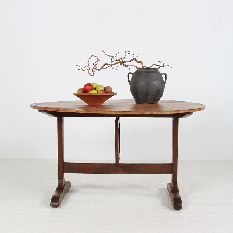 Antique French 19thC Harvest Wine Table