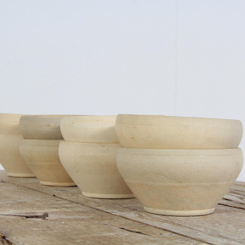Collection of French Creamware Bowls with Minimalistic Design