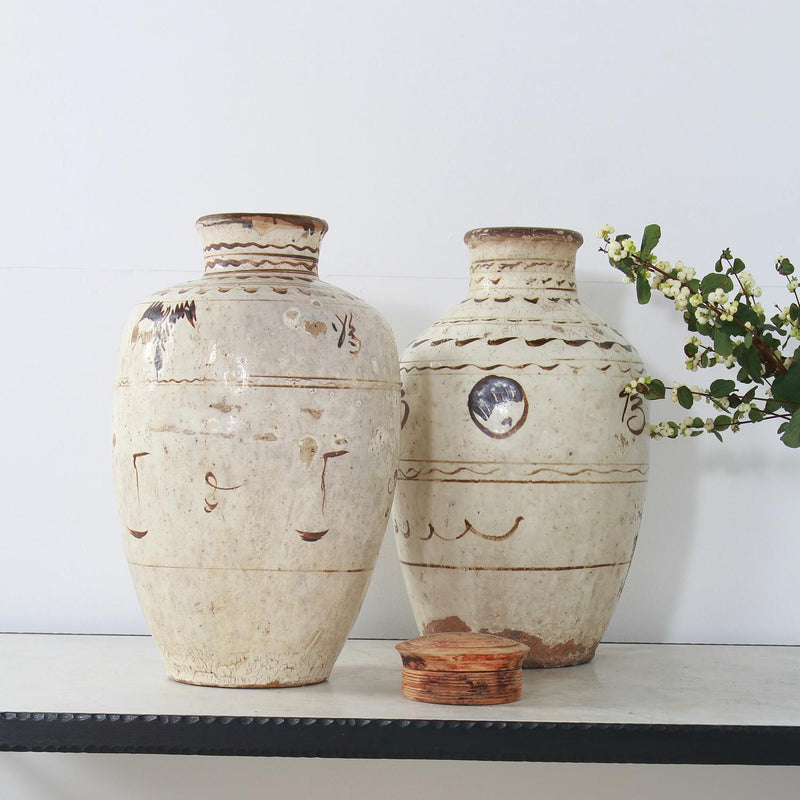 Chinese Cizhou Decorated Stoneware Wine Jars