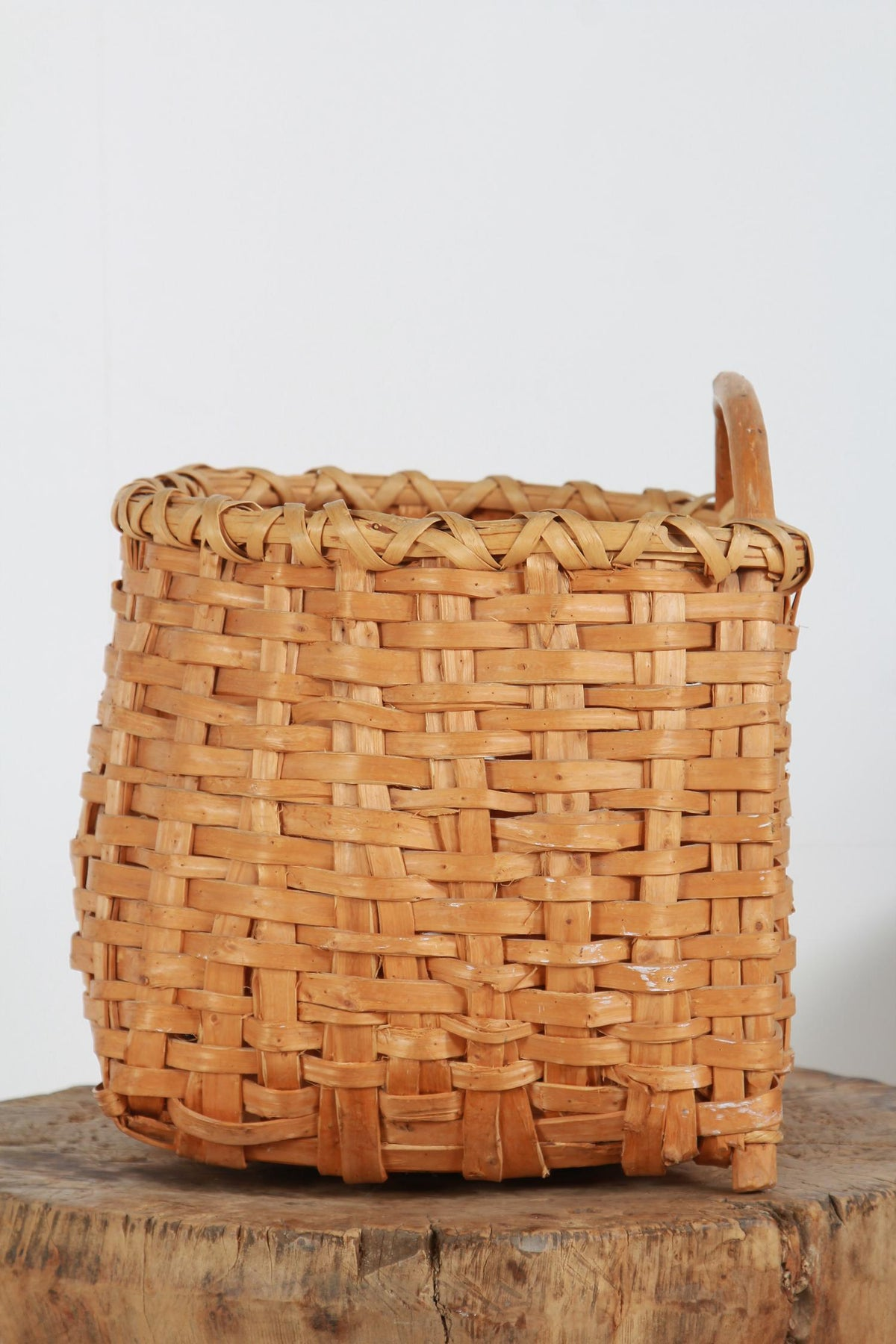 Swedish Late 19th Century Splint Woven Berry Basket