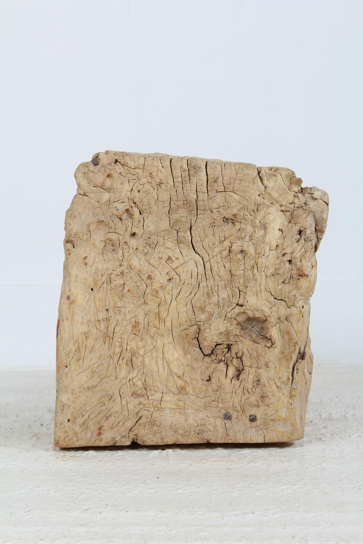 Charming  Primitive Gnarly Tree Trunk Side Table