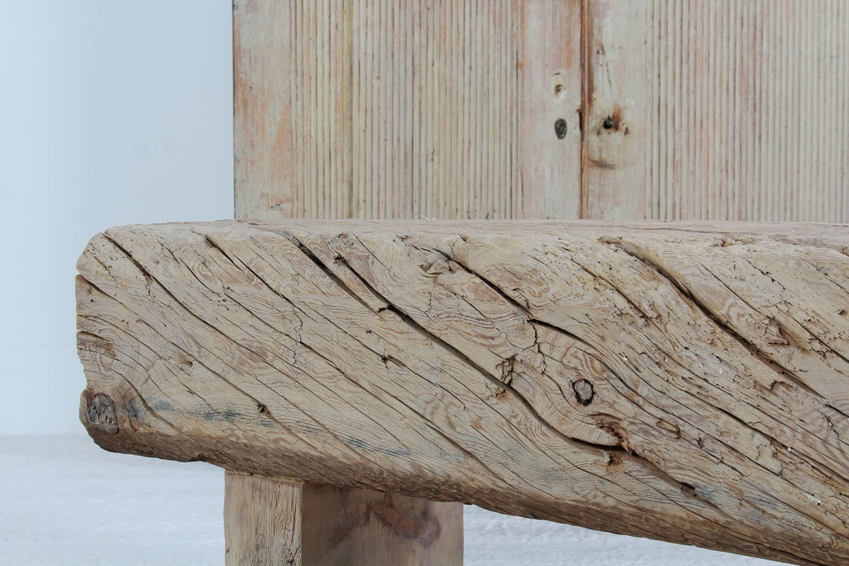 Spanish 19th Century  Trestle Table in Bleached Washed Oak