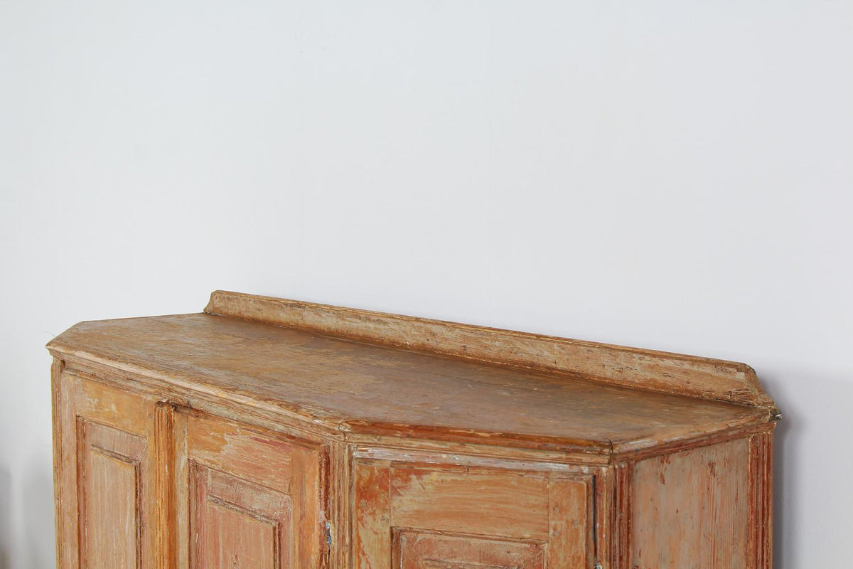 Elegant Swedish Sideboard Scraped to the Original Patina