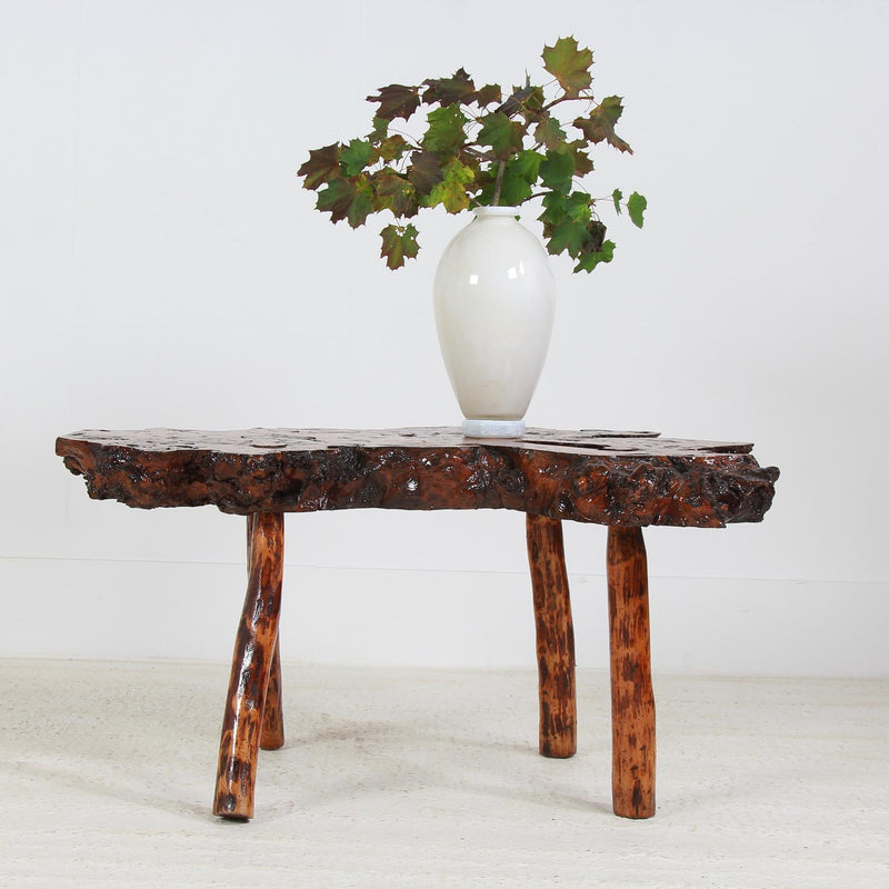 Unique Petrified Wood Top Coffee/Center Table
