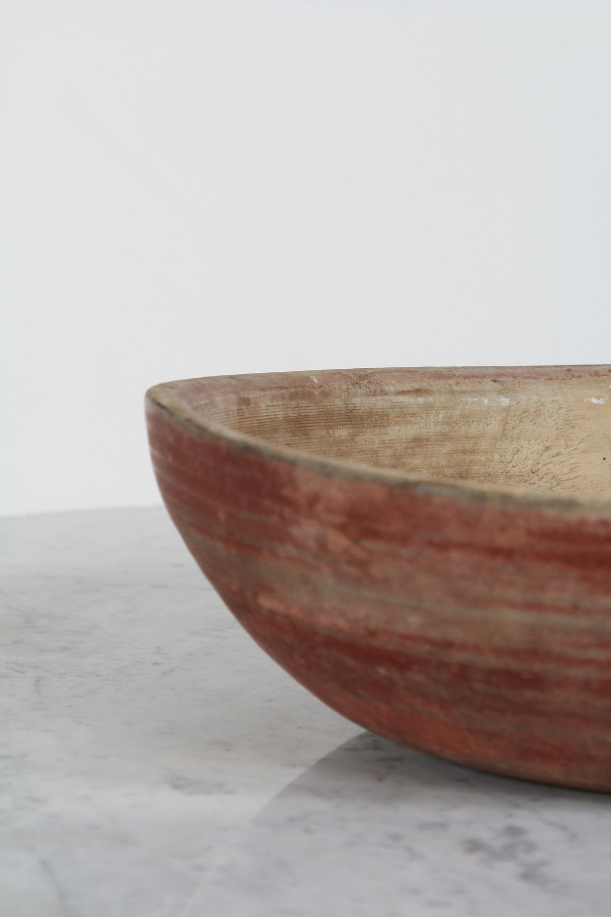 A Superb Swedish 19thC Turned Wooden Folk Art  Root Bowl