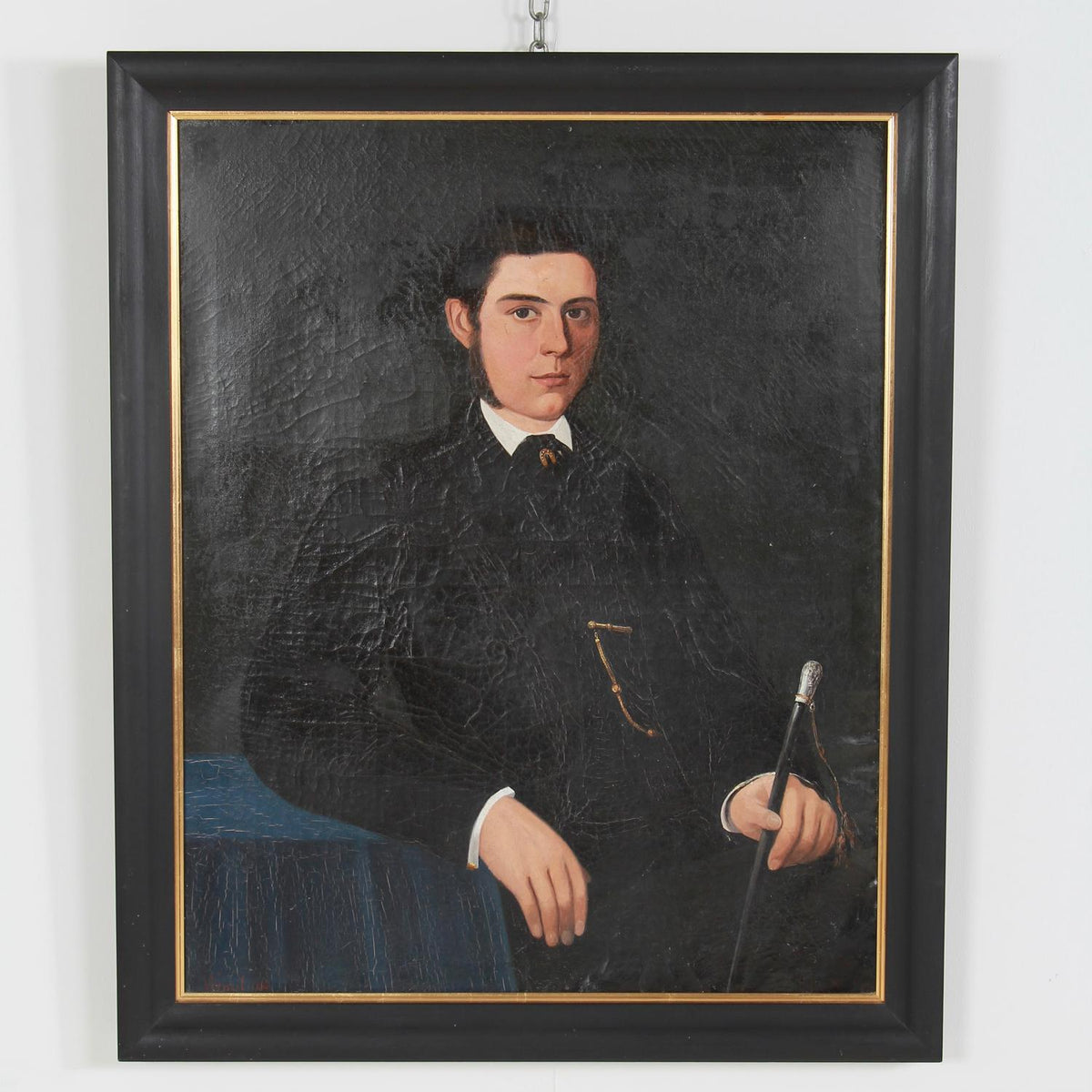 Portrait  Oil on Canvas of A French 19thC Gentleman