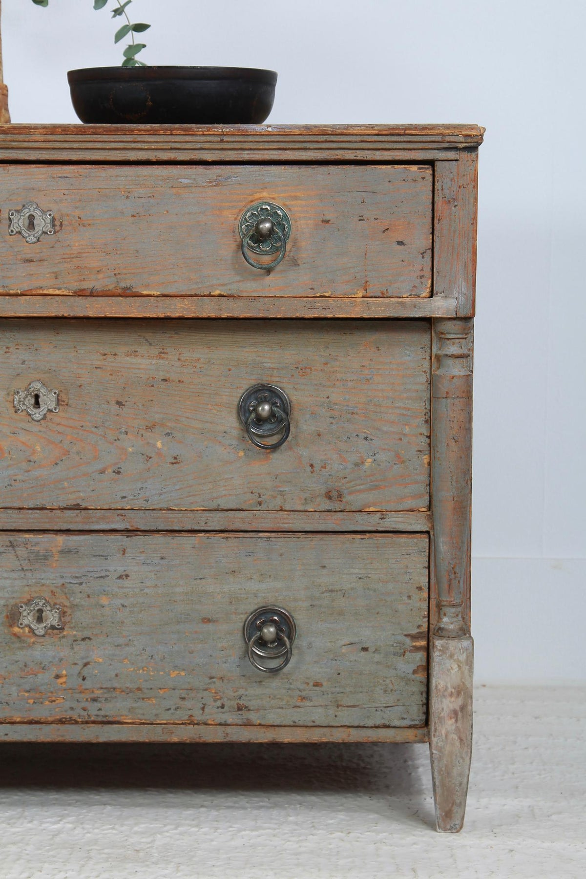 Original Painted 19th Century Continental Chest of Drawers