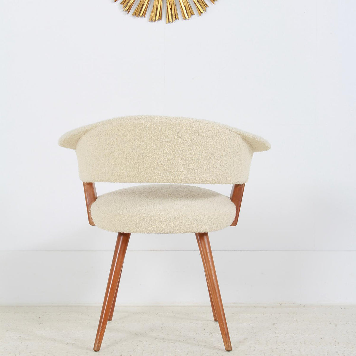Stylish 1950s Teak Chair by Hans Mitzlaff for Soloform Germany