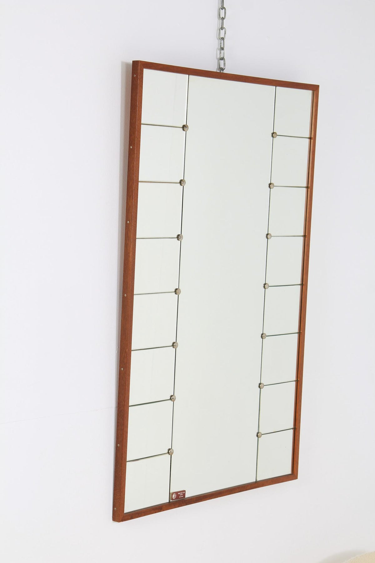 Large Swedish Mid-20th Century Deco Inspired Wall Mirror