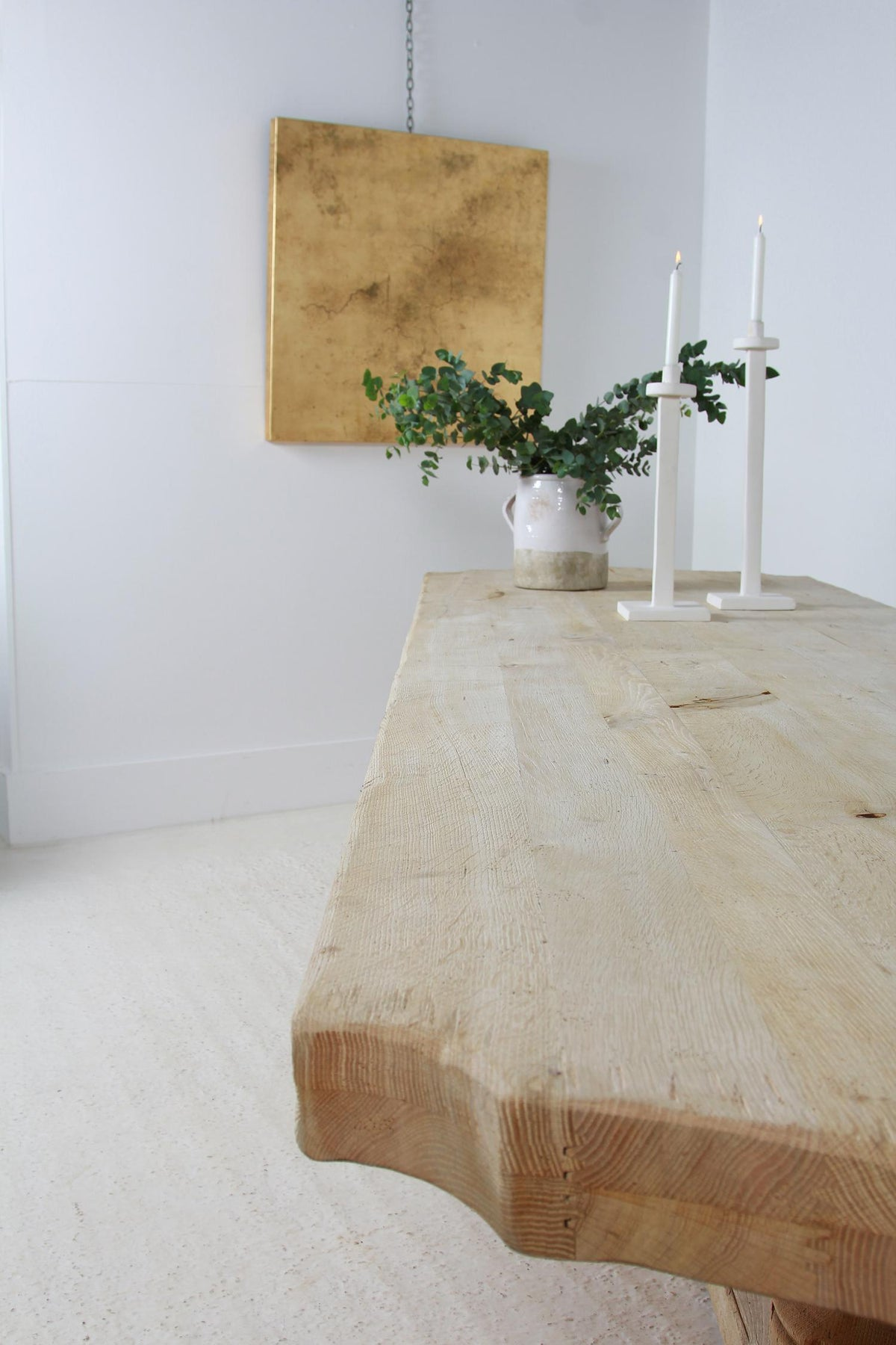 Huge Monumental French Bleached Oak Monastery  Table