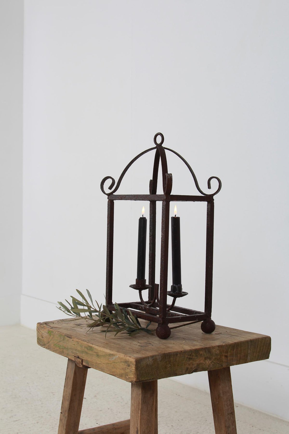 Unique Wrought Iron French Standing Candleabra
