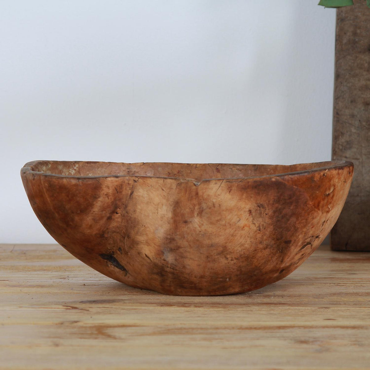 Exceptional Swedish 18thC Burr Bowl of Sculptural Form