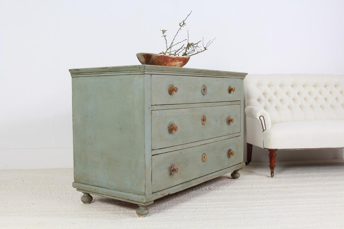 Grand Neo Classical Style Painted Chest of Drawers