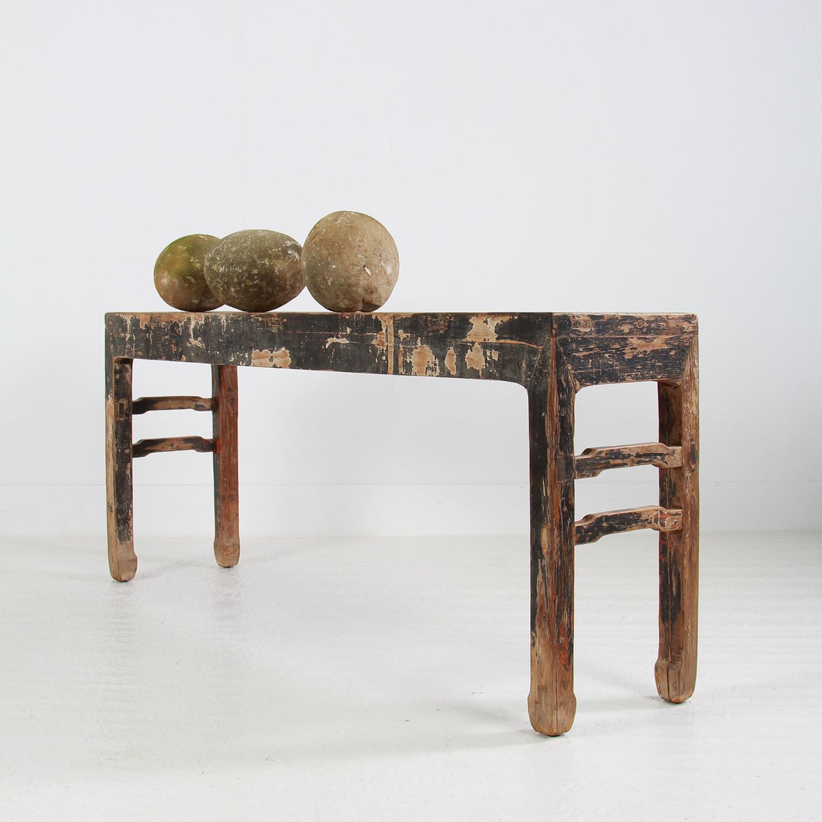 Ancient  Wabi Sabi Chinese  Elmwood Console Table