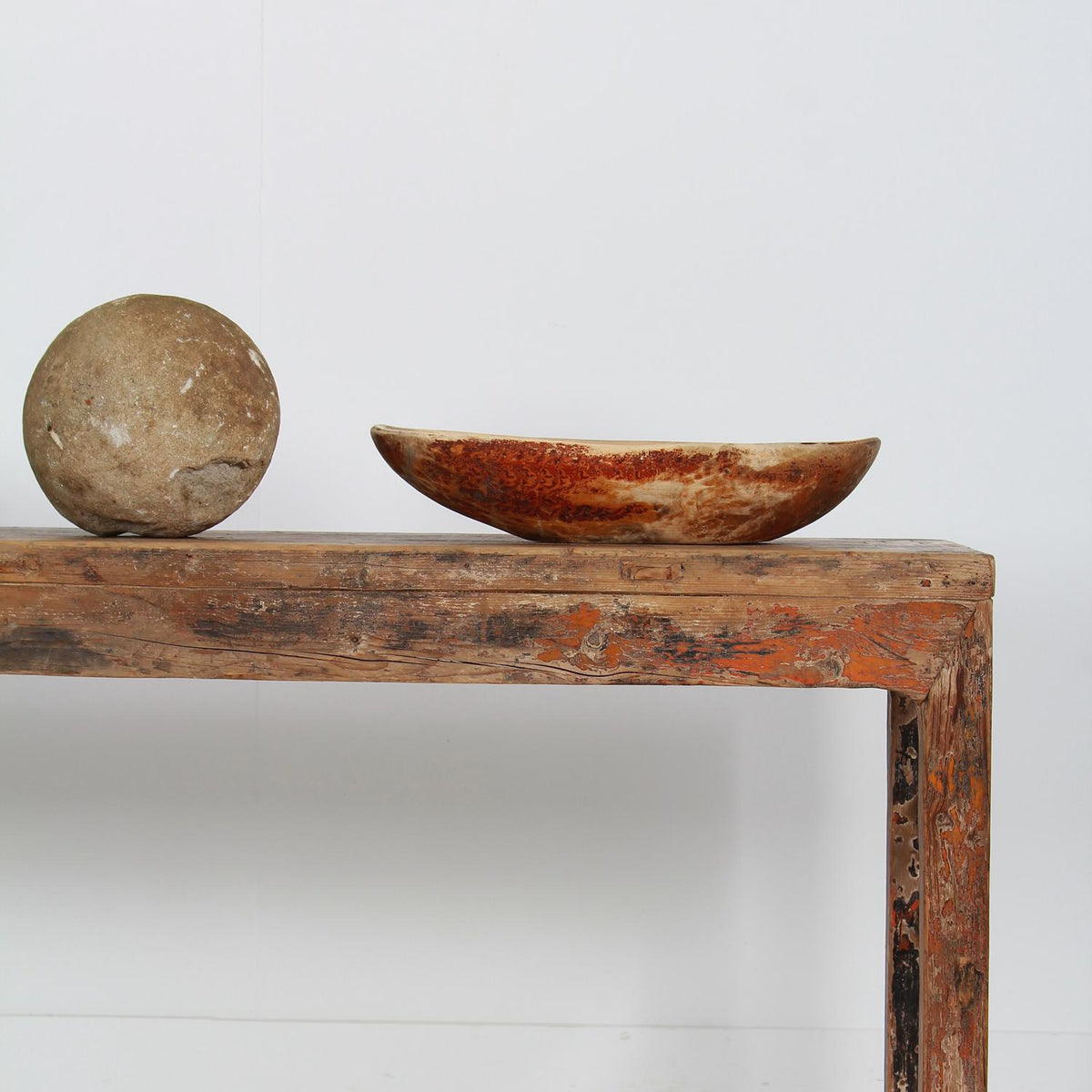 Early 19th Century Swedish Wooden Bowl with Initials