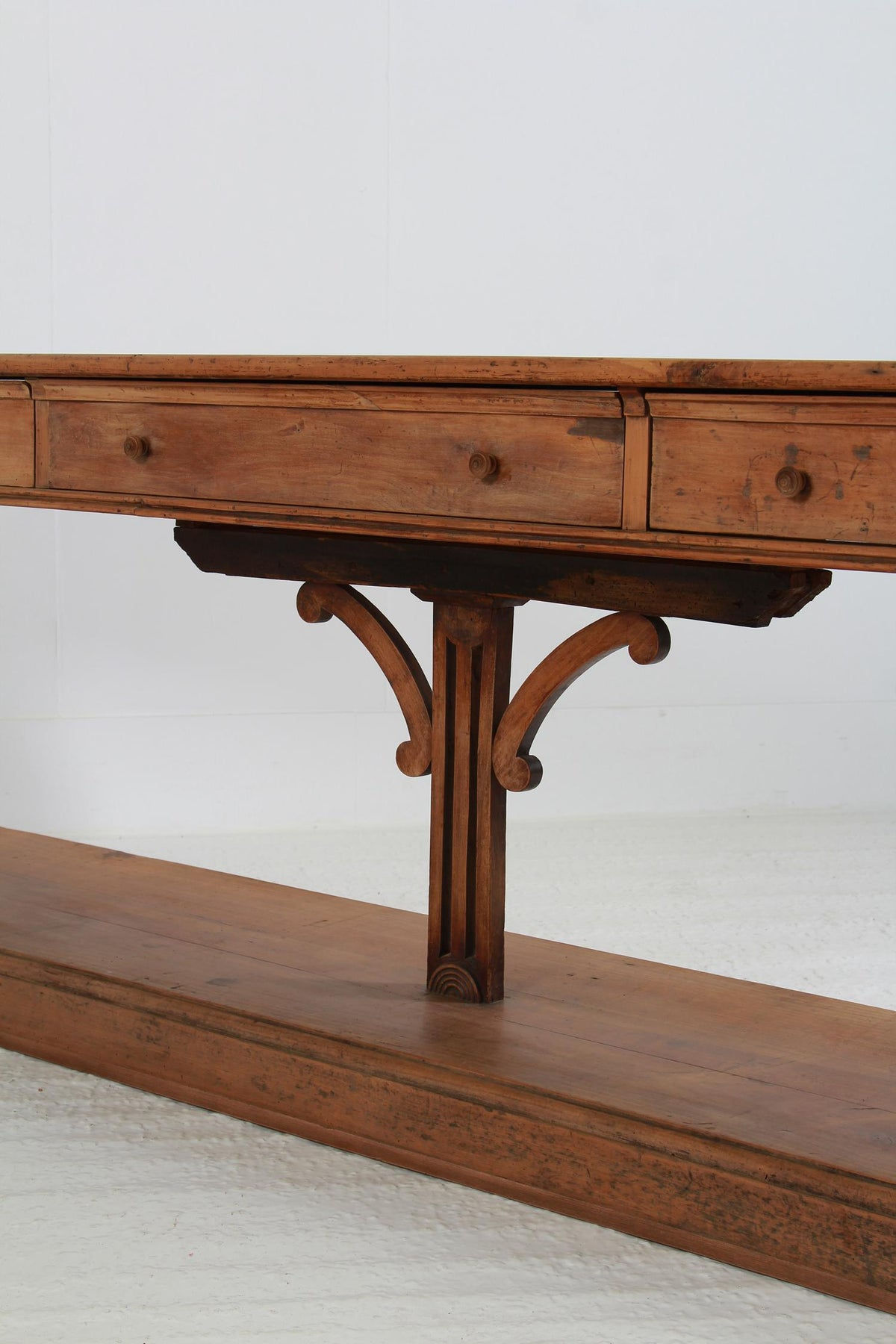 Outstanding & Unique French 19thC Walnut Drapers Table