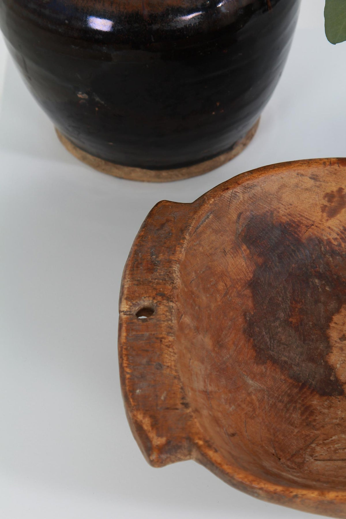 Unique & Primitive  Early 19thC Swedish Carved Wooden Bowl