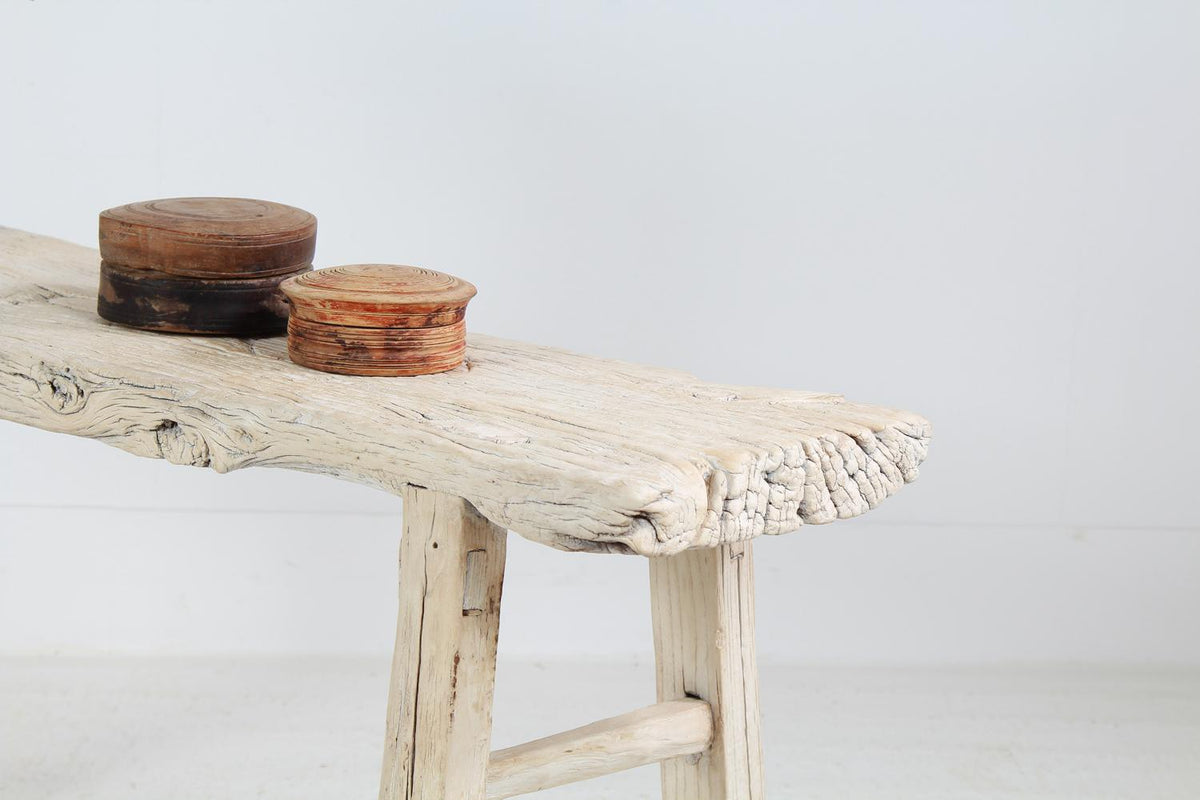 Rustic Weathered Elm Console Table with the Perfect Patina