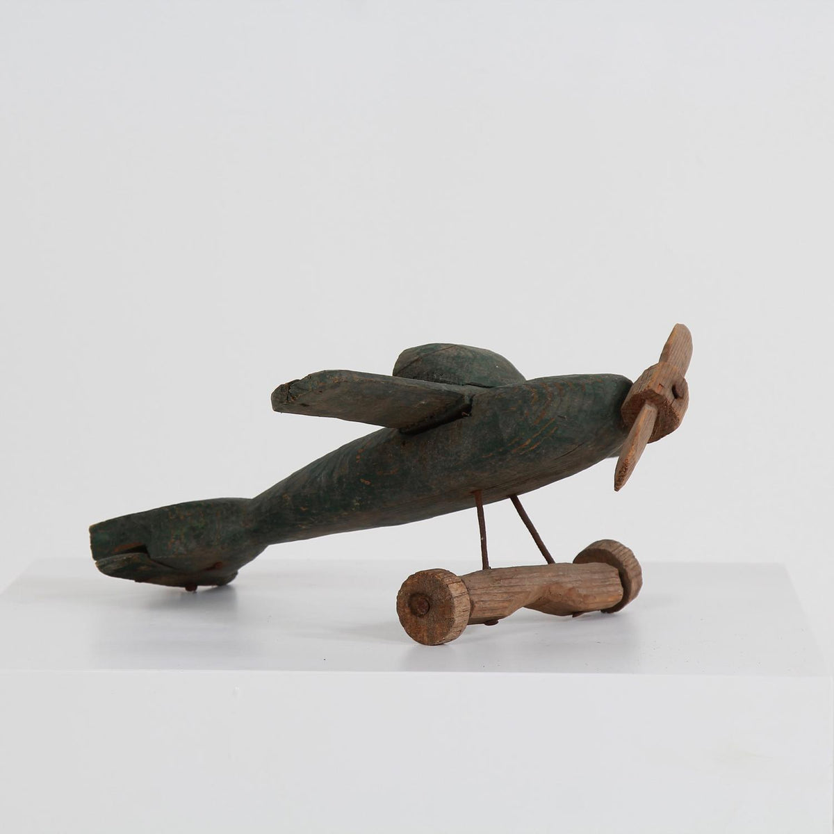 Beautiful Primitive Carved Wood Folk Art Airplane
