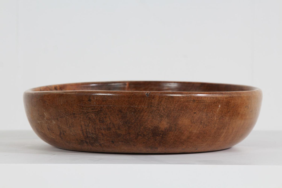 Fantastic Large Swedish 19thC  Turned Dairy Bowl