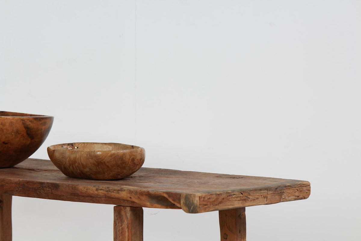 Late 19th Century Elm Rustic Console/Side Table
