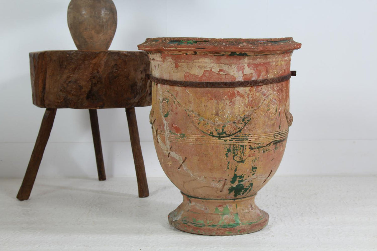 Stunning Ancient French 19thC Time Worn Anduze Garden Planter
