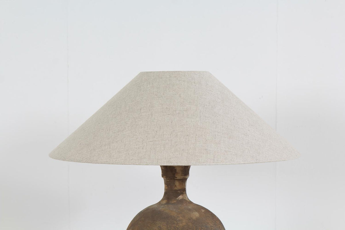 Unique Long & Narrow Chinese Pot Converted into a Lamp & Shade