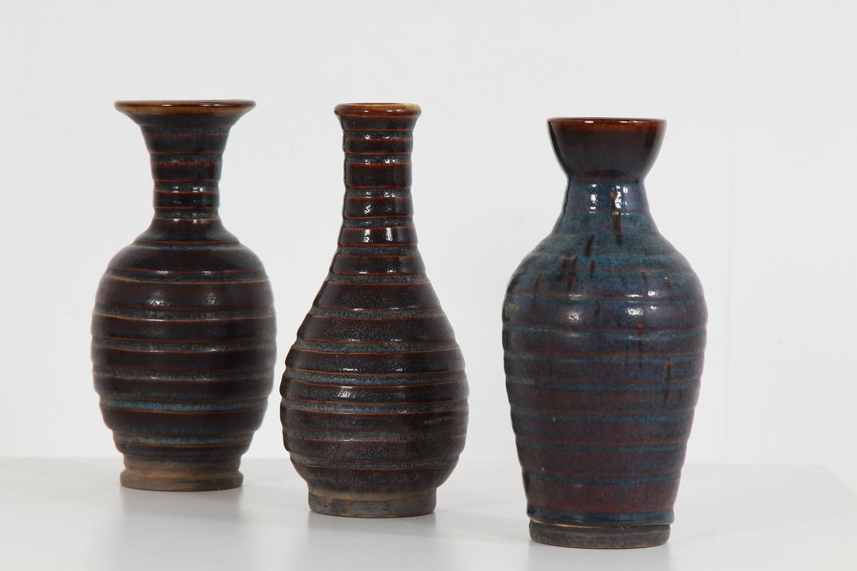 Collection of Three Ceramic Chinese Pastle Jars