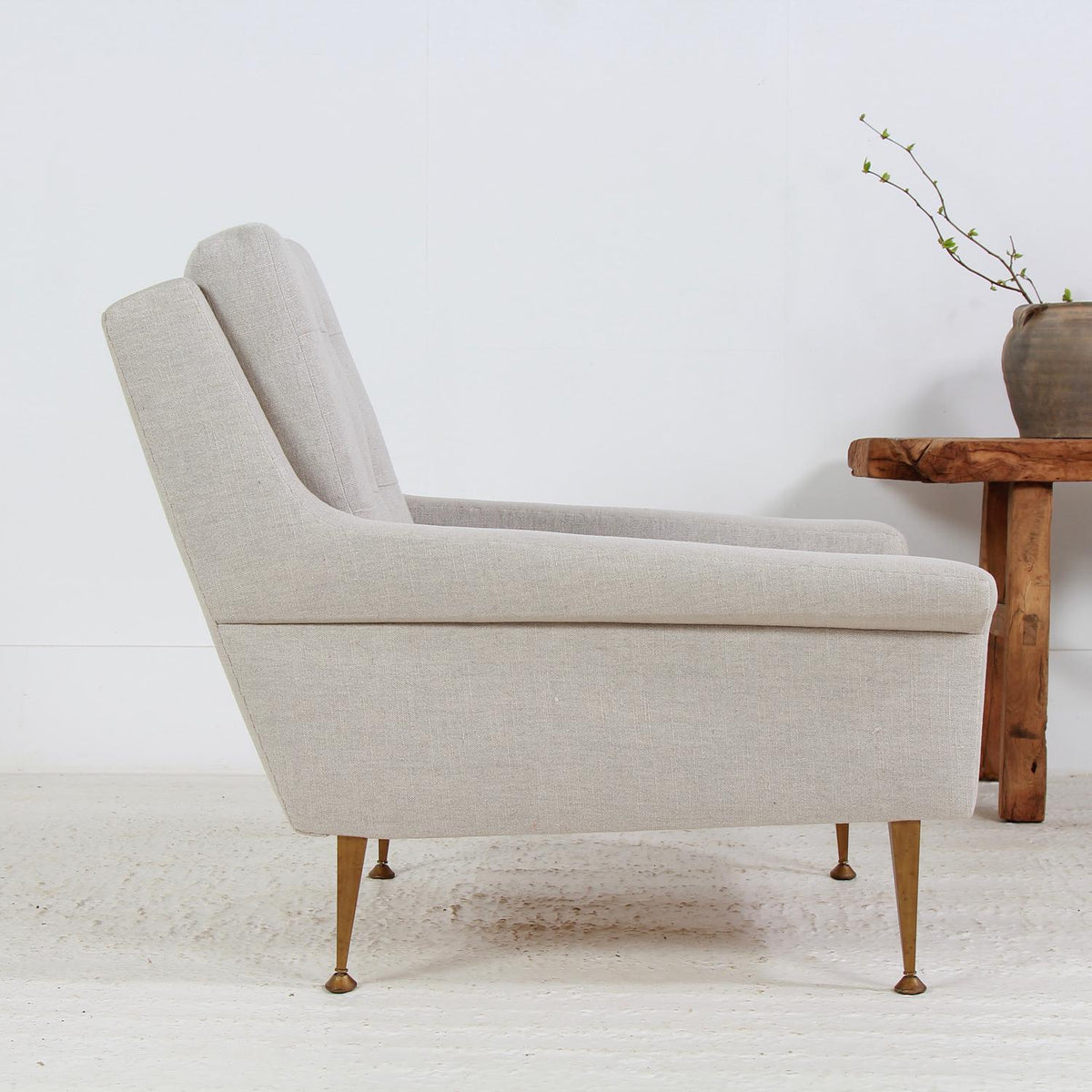 Stylish Italian Midcentury 1950s Lounge Chair