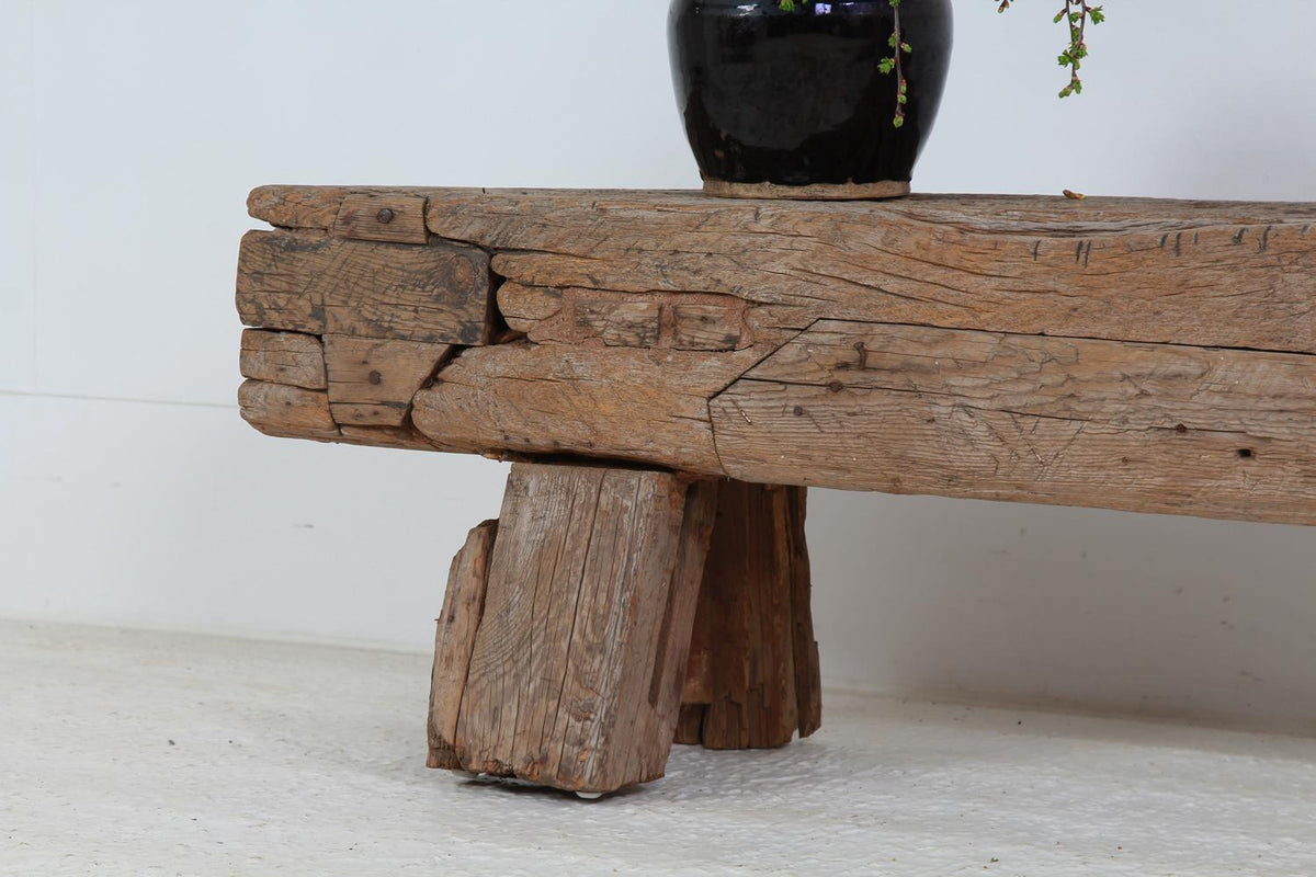 Huge Primitive Gnarly Oak Wabi Sabi  Bench/Coffee Table
