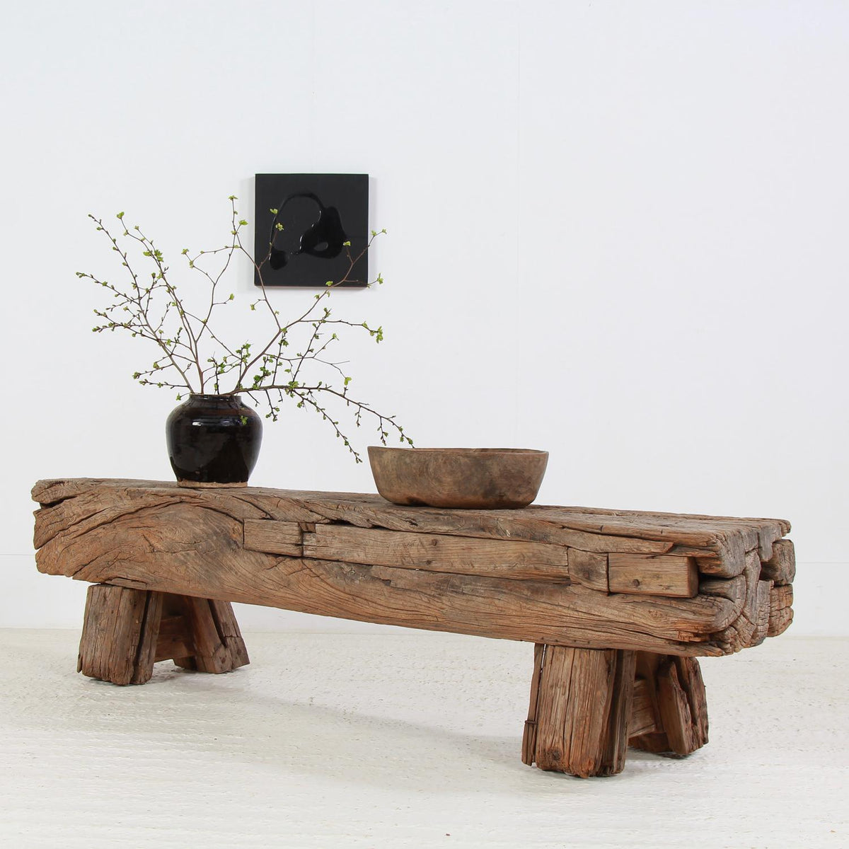 Picture of: Huge Primitive Gnarly Oak Wabi Sabi Bench Coffee Table Anton And K