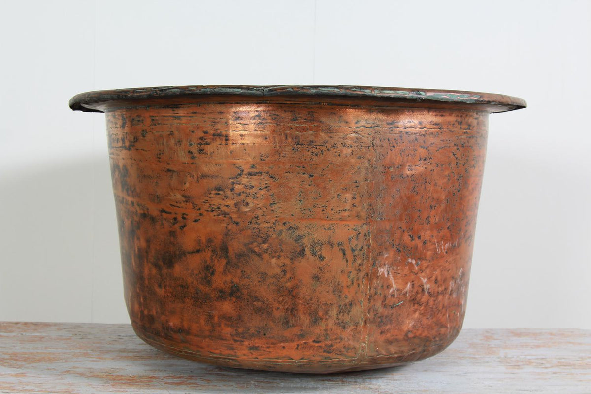 Large English 20thC Copper Log/Planter Bin