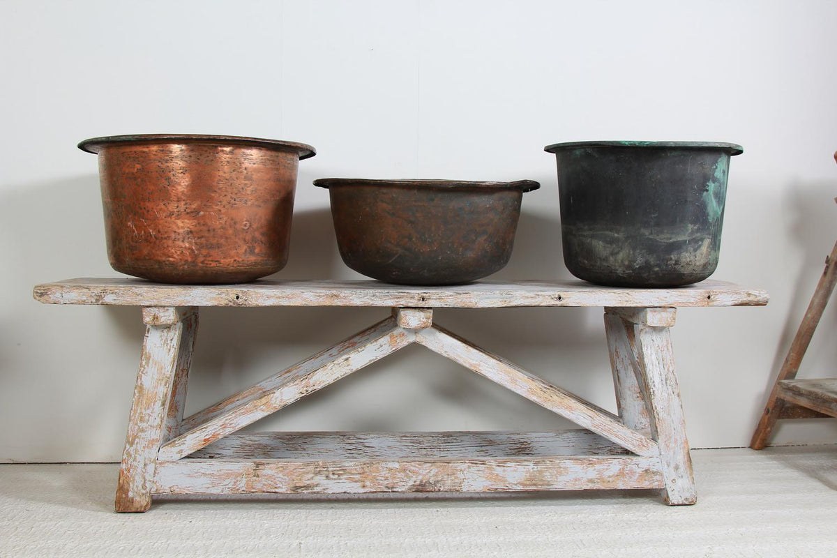 Rustic English 20thC  Copper Log/Planter Bin