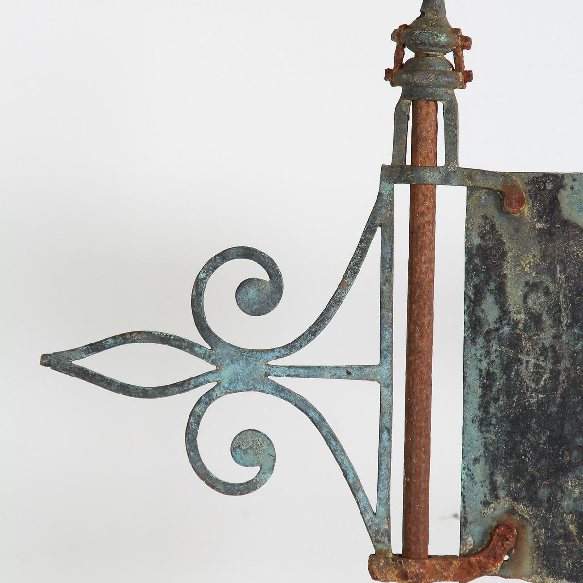 English 20thC Silhouette Flag Weathervane