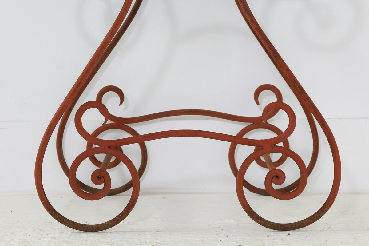 French 19thC Iron & Slate Garden Table