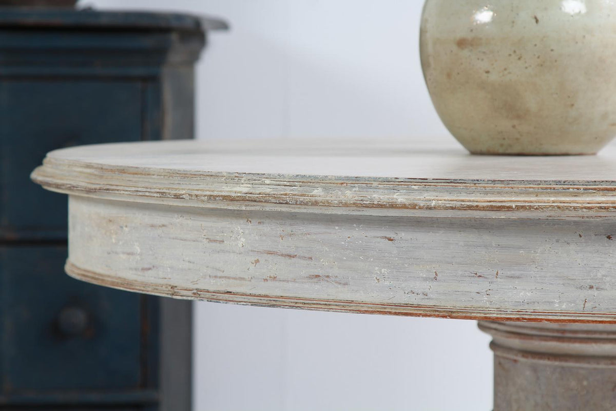 Swedish 19thC Painted Gueridon/Center Table