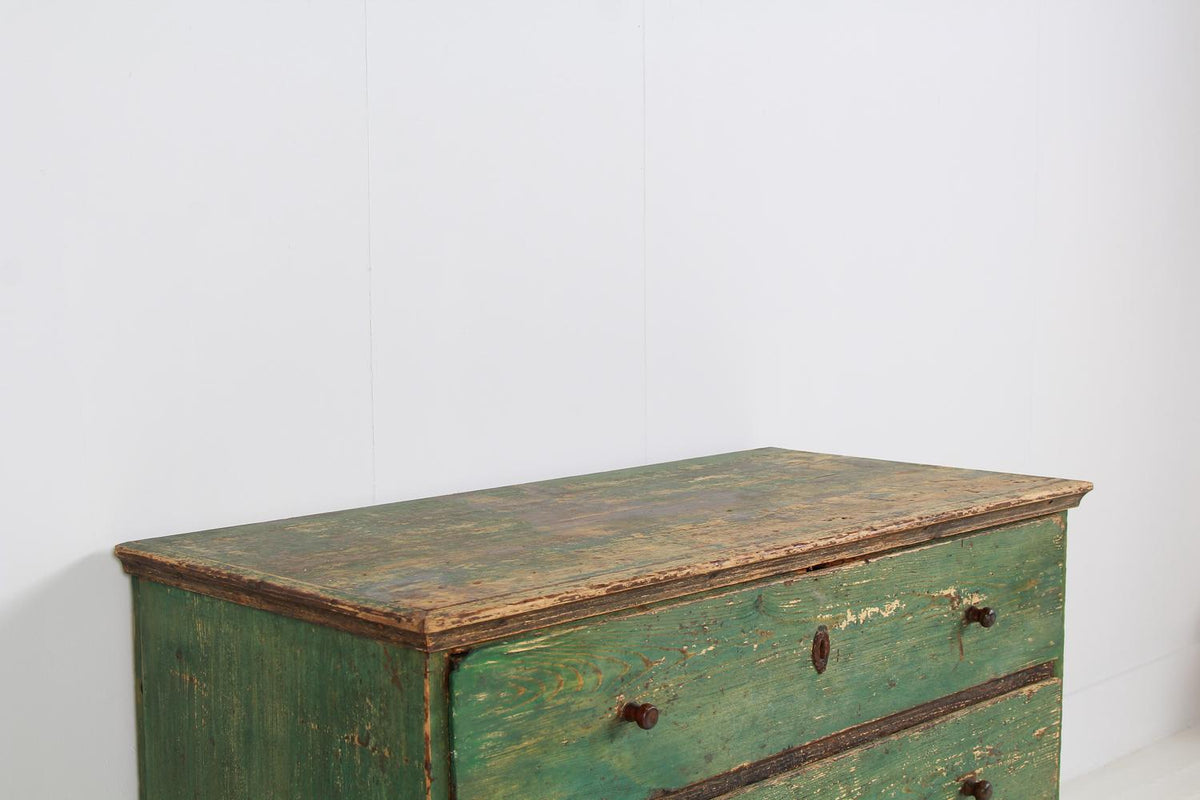 Grand Scale 19thC  Continental  Original Painted Chest of Drawers